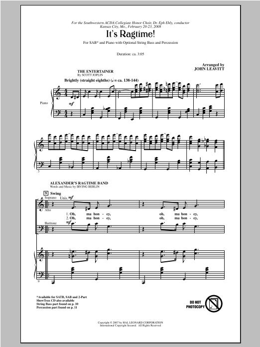 It's Ragtime! (SAB Choir)