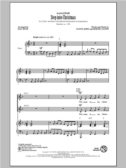 Step Into Christmas (arr. Mac Huff) Sheet Music