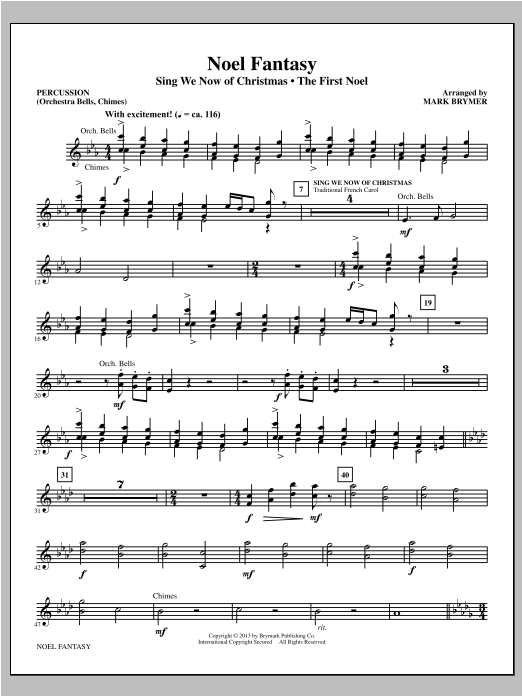 Noel Fantasy - Percussion Sheet Music