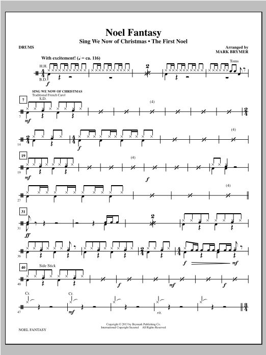 Noel Fantasy - Drums Sheet Music