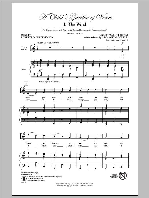 A Child's Garden of Verses (Set I) Sheet Music