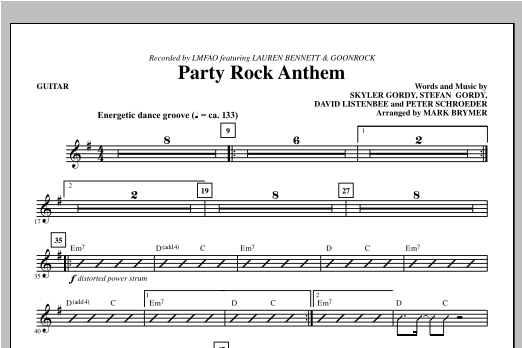 Party Rock Anthem - Guitar Sheet Music