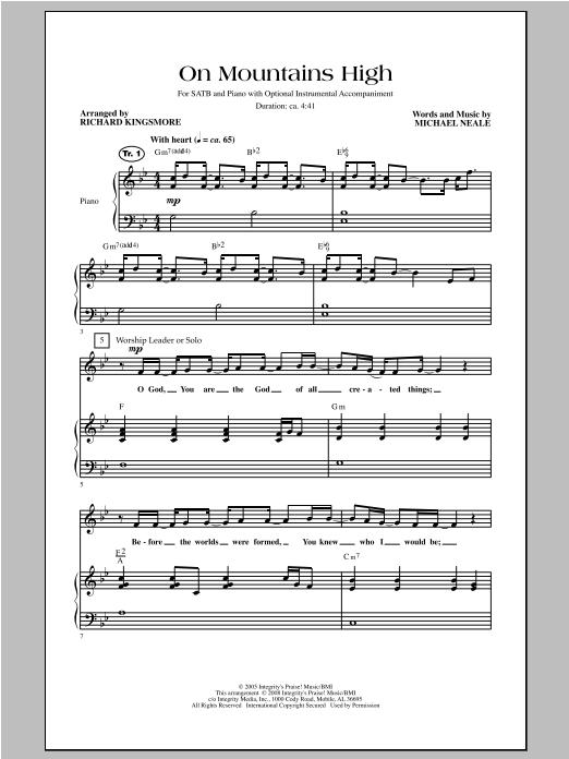 On Mountains High Sheet Music