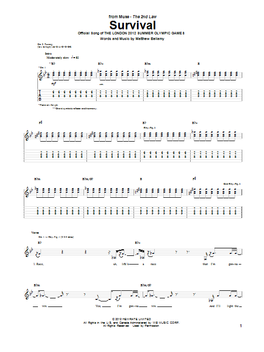 Survival (Guitar Tab)