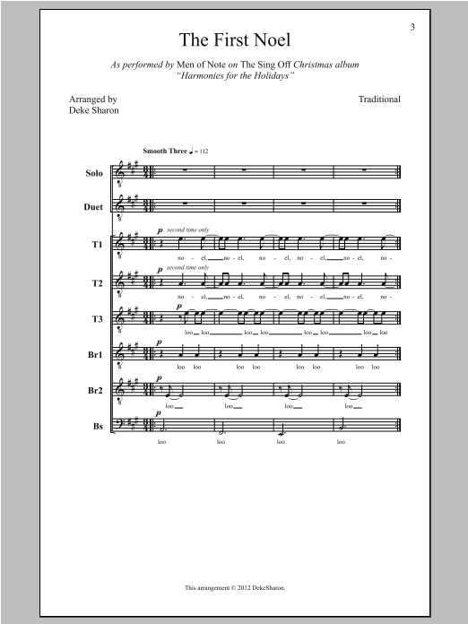 The First Noel (arr. Deke Sharon) Sheet Music