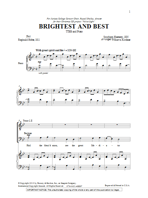 Brightest And Best (TTBB Choir)