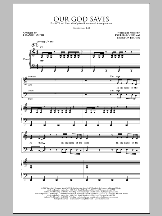 Our God Saves (SATB Choir)