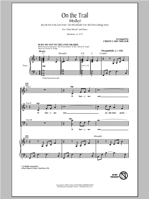 On The Trail (Medley) Sheet Music