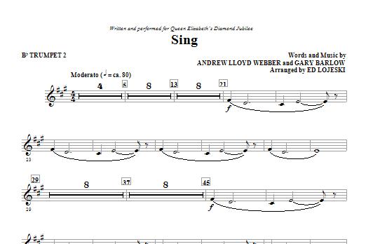 Sing (Queen Elizabeth Diamond Jubilee) - Bb Trumpet 2 Sheet Music