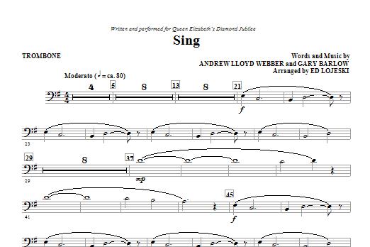 Sing (Queen Elizabeth Diamond Jubilee) - Trombone (Choir Instrumental Pak)