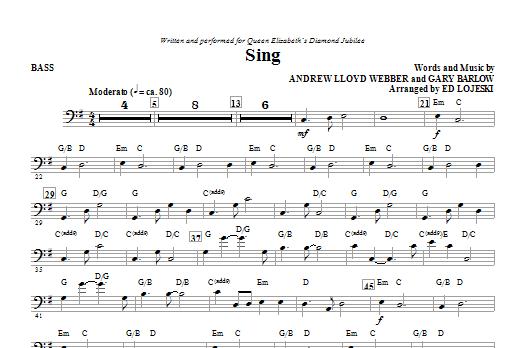 Sing (Queen Elizabeth Diamond Jubilee) - Bass Sheet Music