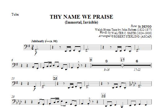 Thy Name We Praise (Immortal, Invisible) - Tuba Sheet Music