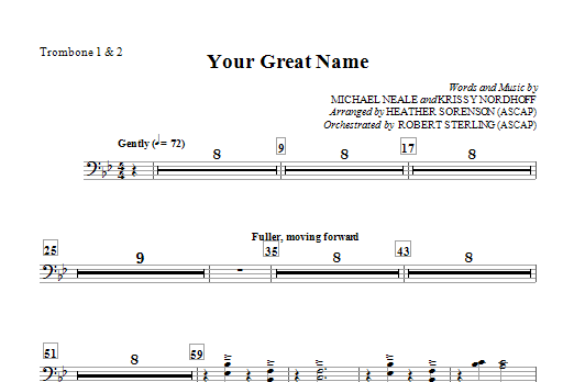Your Great Name - Trombone 1 & 2 Sheet Music