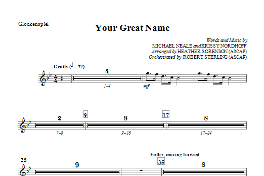 Your Great Name - Glockenspiel Sheet Music