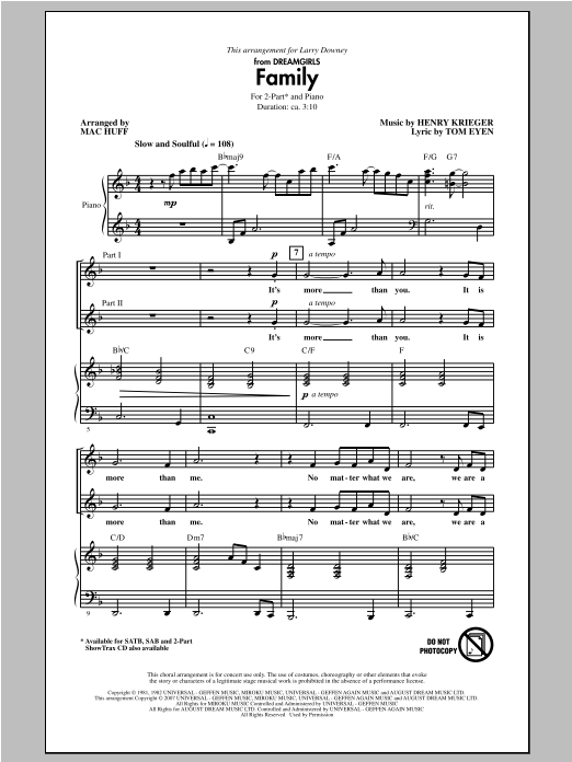 Family Sheet Music