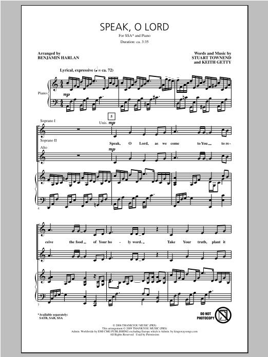Speak O Lord (SSA Choir)