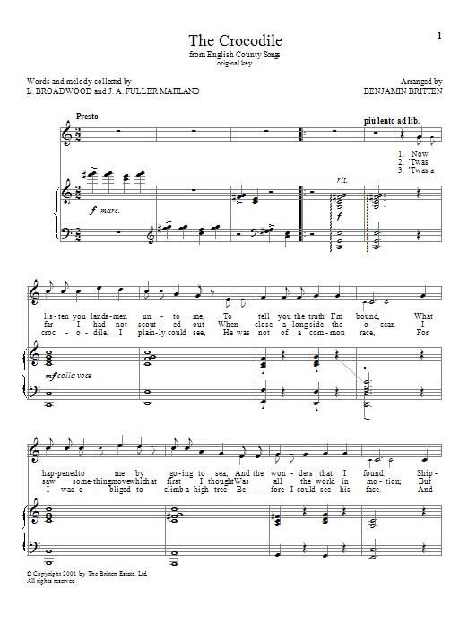 The Crocodile (Piano & Vocal)