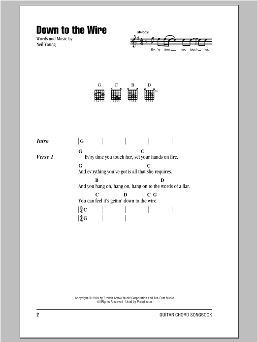 Down To The Wire Sheet Music