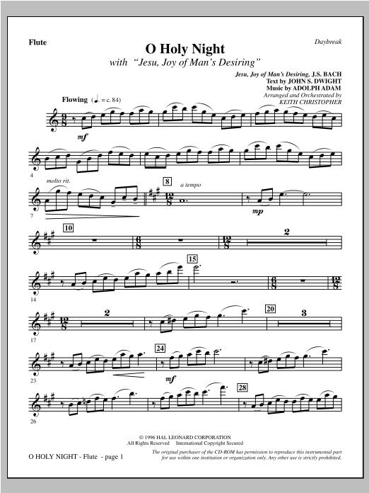 "O Holy Night (with ""Jesu, Joy of Man's Desiring"") - Flute (Choir Instrumental Pak)"