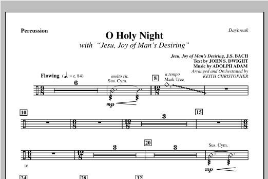 "O Holy Night (with ""Jesu, Joy of Man's Desiring"") - Percussion (Choir Instrumental Pak)"