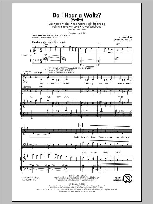 Do I Hear A Waltz? (Medley) Sheet Music