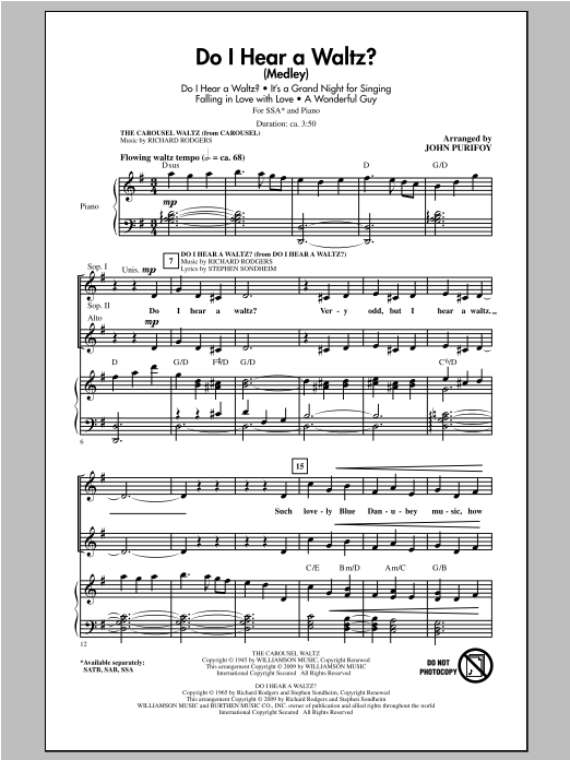 Do I Hear A Waltz? (Medley) Sheet Music