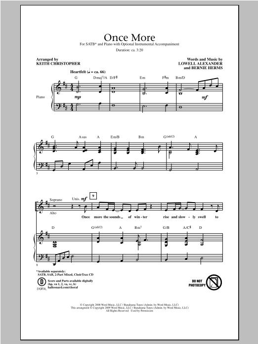 Partition chorale Once More de Lowell Alexander - SATB