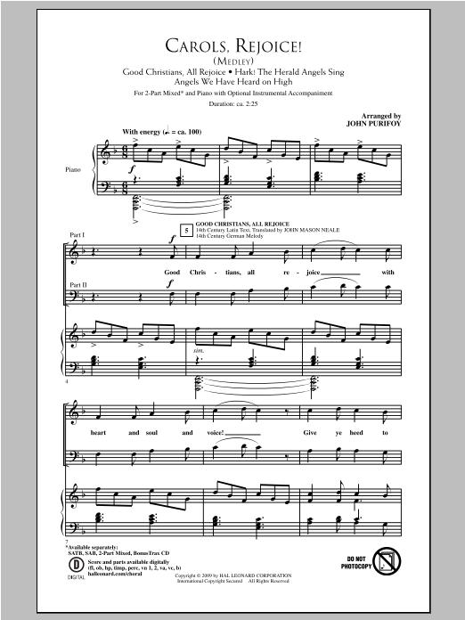 Carols, Rejoice (Medley) (2-Part Choir)