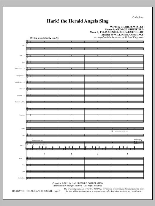 Hark! The Herald Angels Sing - Full Score Sheet Music