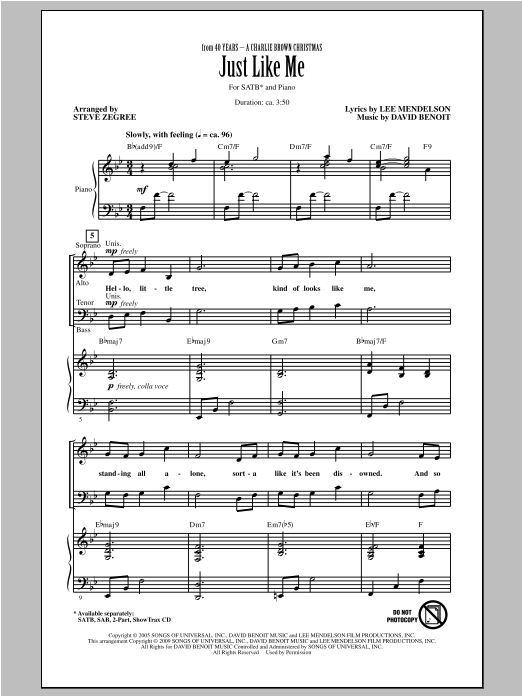 Partition chorale Just Like Me de Vanessa Williams - SATB