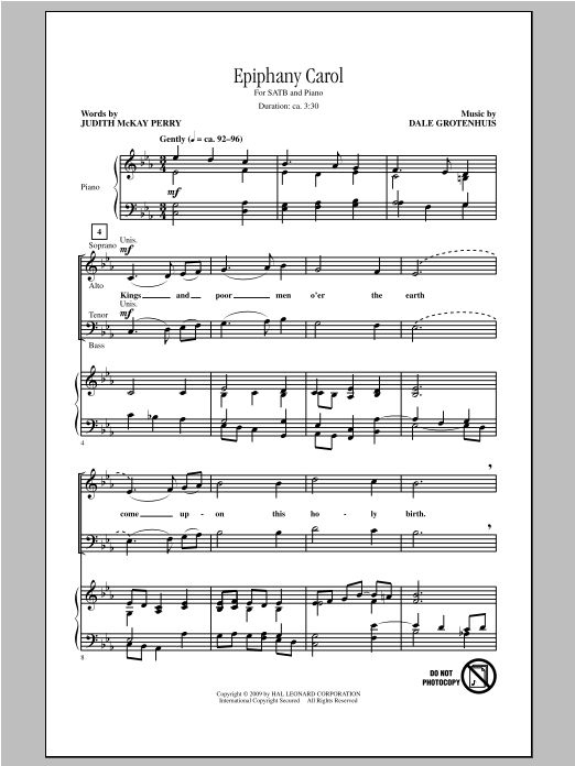 Epiphany Carol Sheet Music