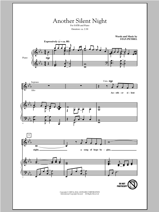 Another Silent Night (SATB Choir)