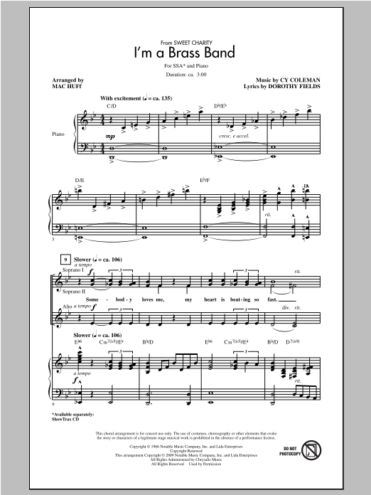 I'm A Brass Band (from Sweet Charity) (arr. Mac Huff) Sheet Music