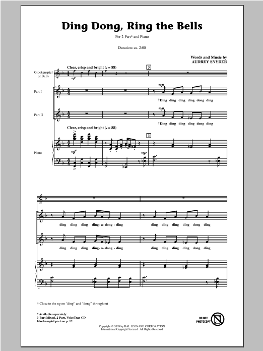 Ding Dong, Ring The Bells Sheet Music
