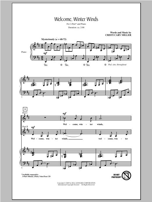 Welcome Winter Winds Sheet Music