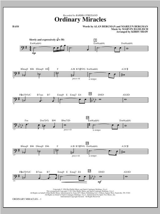 Ordinary Miracles - Bass (Choir Instrumental Pak)