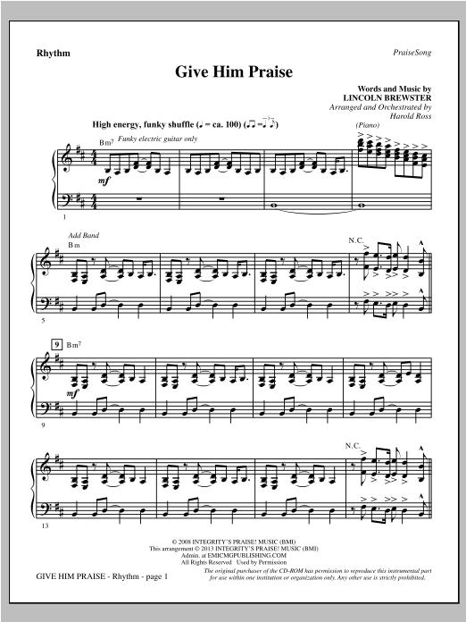 Give Him Praise - Rhythm Sheet Music
