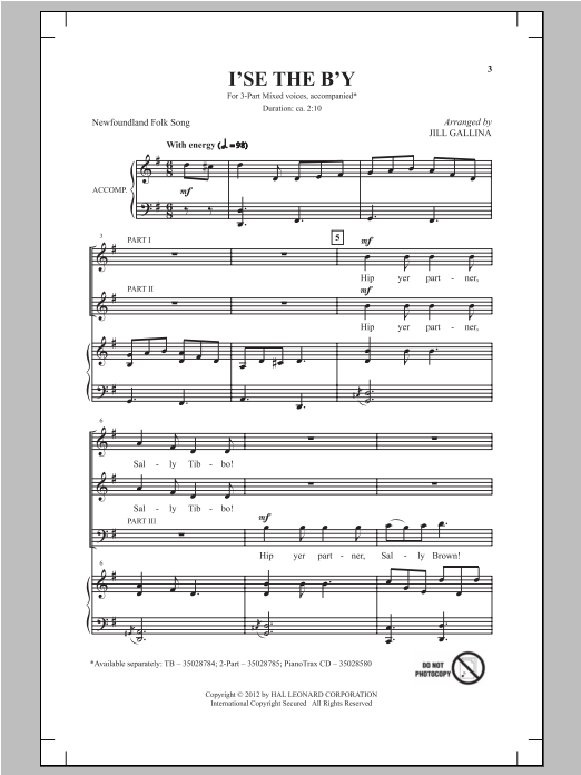 I'se The B'y Sheet Music