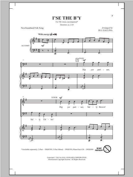 I'se The B'y Sheet Music