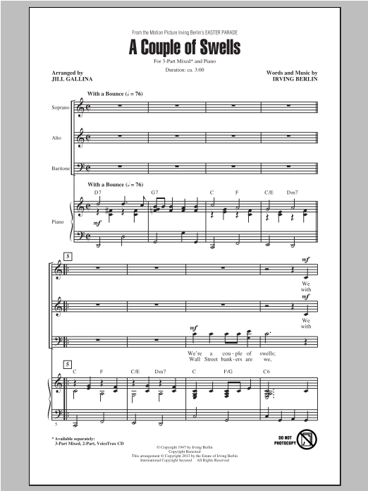 A Couple Of Swells (arr. Jill Gallina) Sheet Music