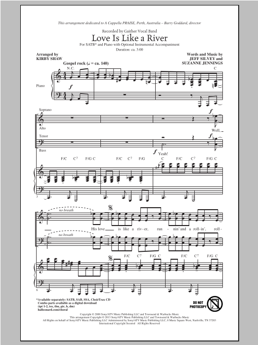 Love Is Like A River (SATB Choir)