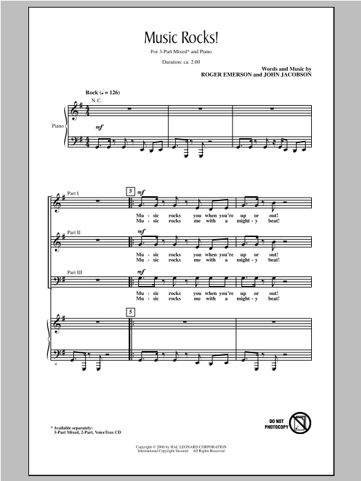 Music Rocks! Sheet Music