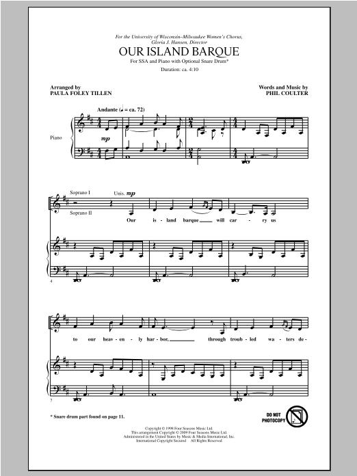 Our Island Barque (arr. Paula Foley Tillen) Sheet Music