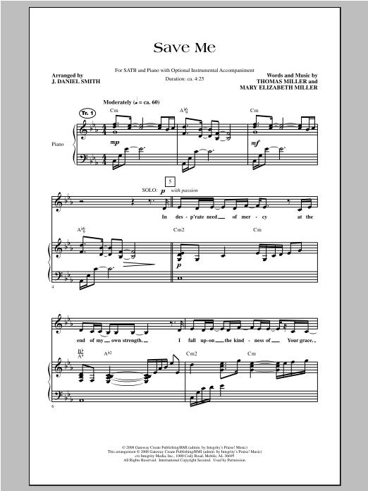 Save Me (SATB Choir)