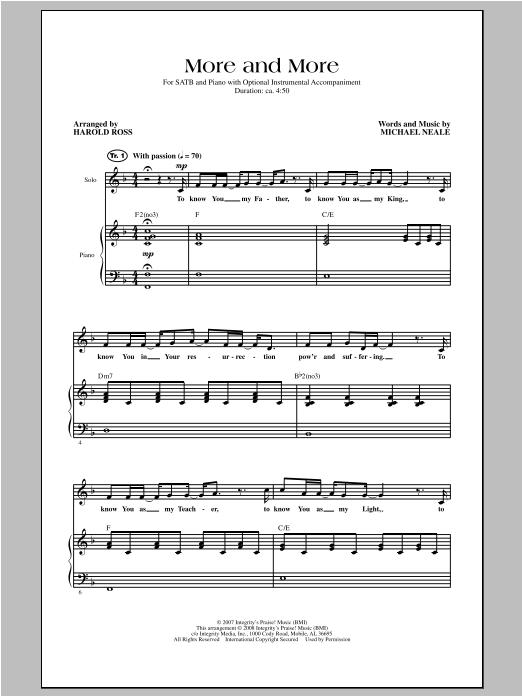 More And More (SATB Choir)