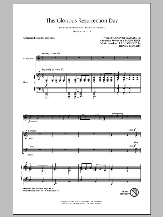This Glorious Resurrection Day Sheet Music