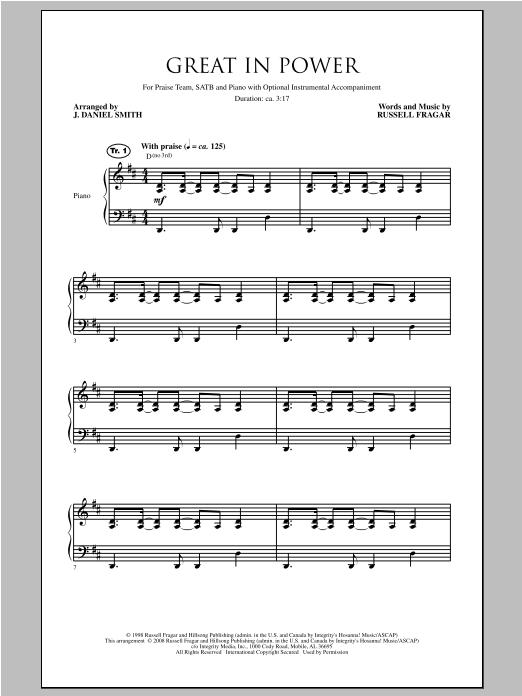 Great In Power (SATB Choir)