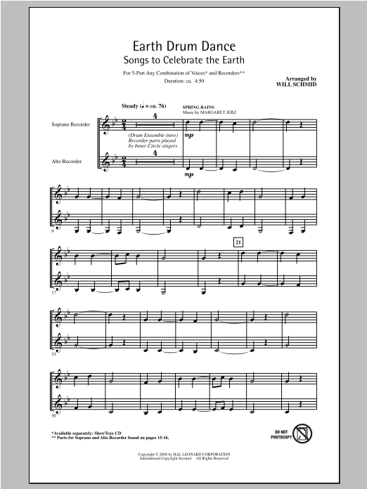 Earth Drum Dance Sheet Music