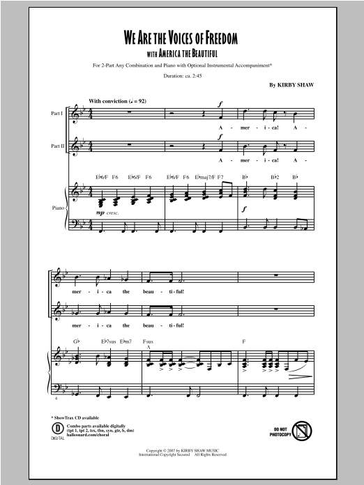 We Are The Voices of Freedom Sheet Music