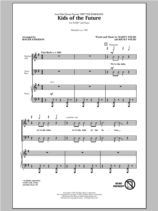 Kids Of The Future (arr. Roger Emerson) Sheet Music
